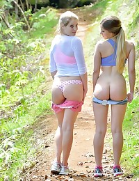Nicole and Veronica Horny Nude Hikers